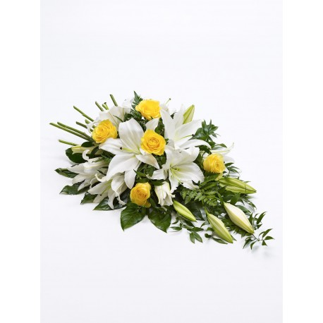 Rose and Lily Spray - Yellow & White