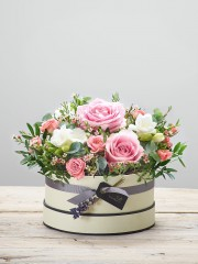 Rose Blush New Baby Hatbox
