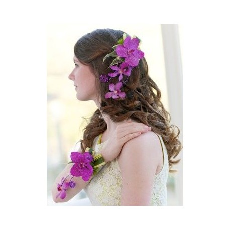 Pink Orchid Corsage Set