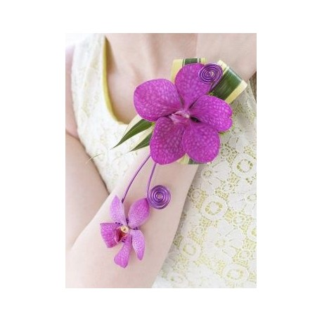 Pink Orchid Wrist Corsage